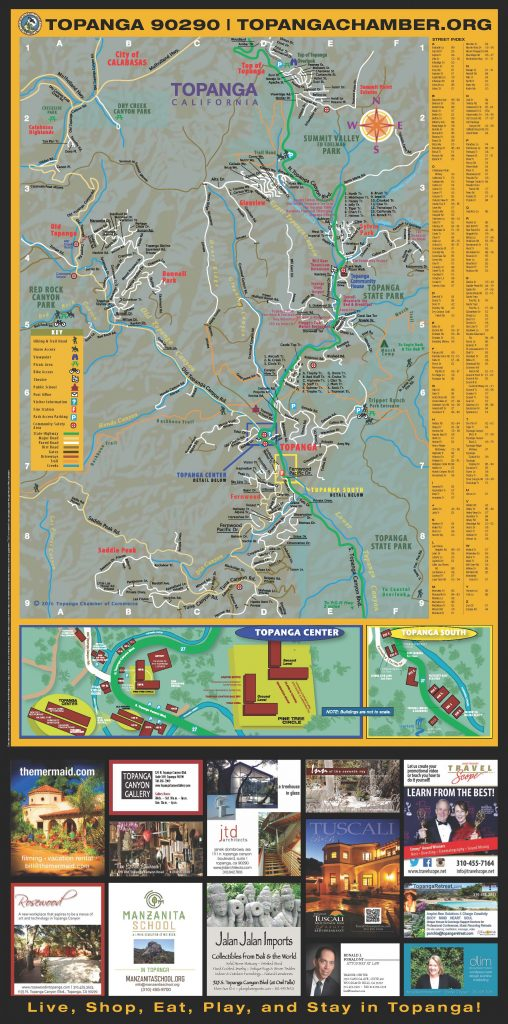 Topanga Fold-Out Map